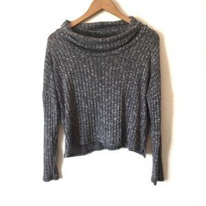 ONE CLOTHING Gray Cowl Neck Sweater Top